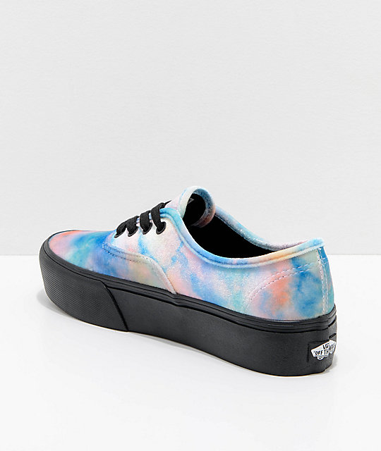 4d38d645daa71c ... Vans Tie Dye Velvet Authentic Platform 2.0 Skate Shoes ...