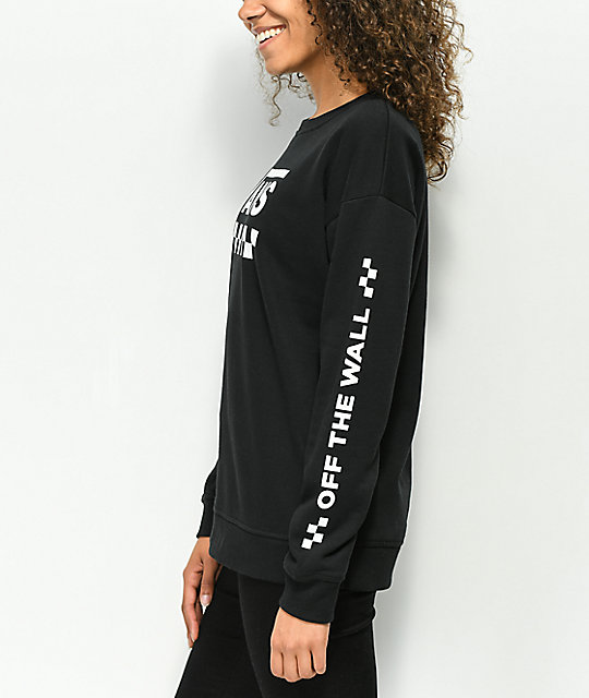 Vans Too Much Fun Black Crew Neck Sweatshirt