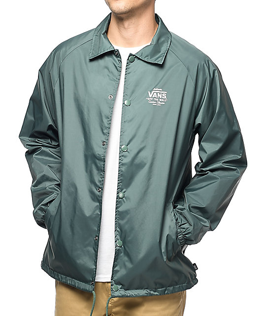 Vans Torrey Dark Green Coaches Jacket Zumiez Ca