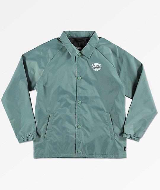 adcfdca295 Vans Torrey Forest Green Coaches Jacket