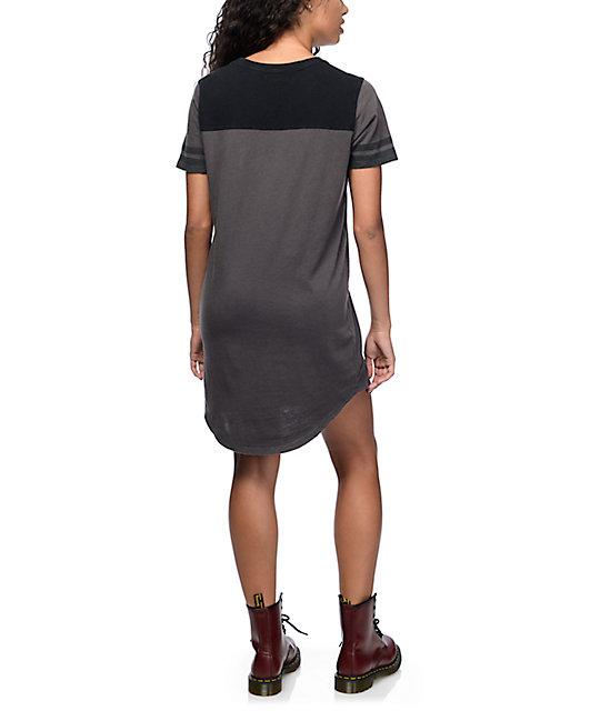 a43e13a641 ... Vans Tough Military Charcoal T-Shirt Dress