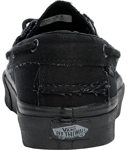 989b108dc9 ... Vans True All Black Zapato Del Barco Skate Shoes ...