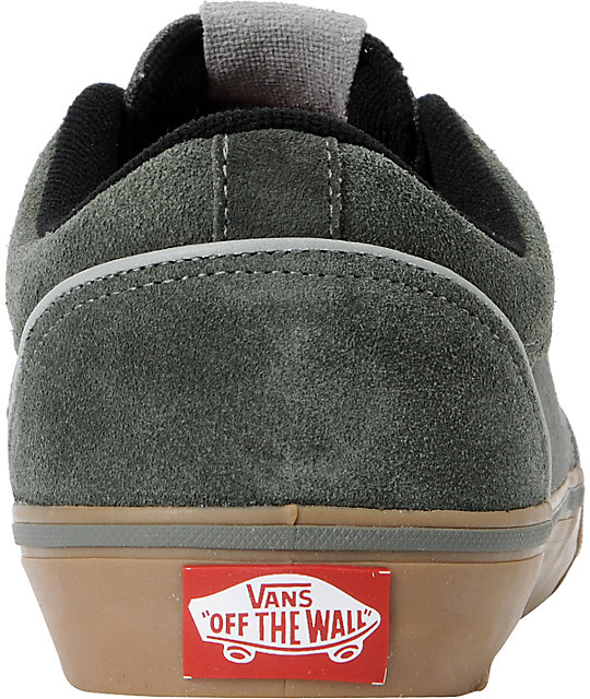 4237ede8c78b ... Vans Type II Charcoal Grey   Gum Skate Shoes ...
