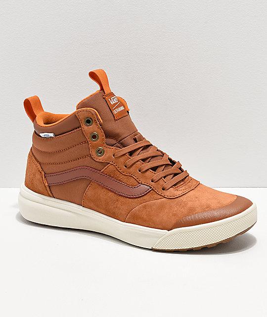 Vans UltraRange Hi MTE Ginger   White Shoes  2bd773375