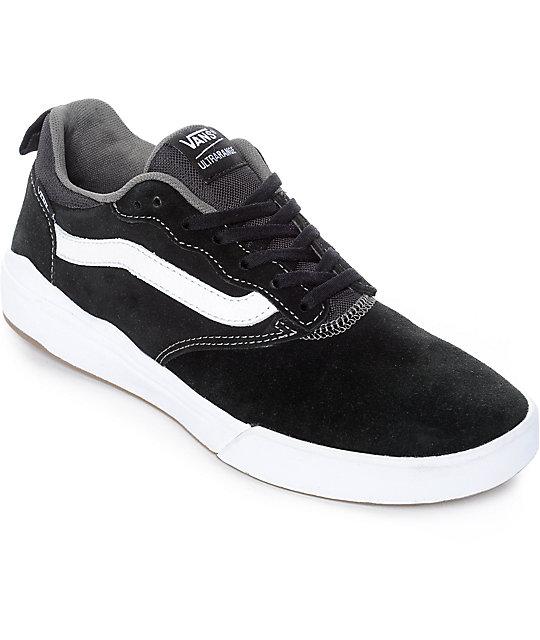 e268d87c77 Vans UltraRange Pro Black   White Suede Skate Shoes