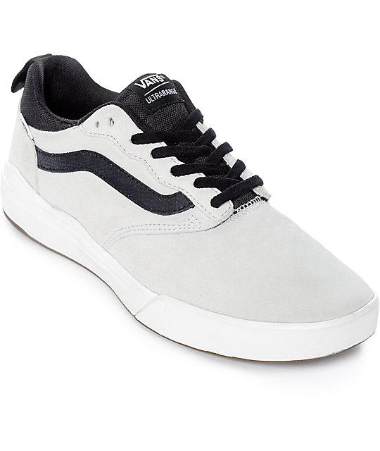 95d39518bc Vans UltraRange Pro White   Black Suede Skate Shoes