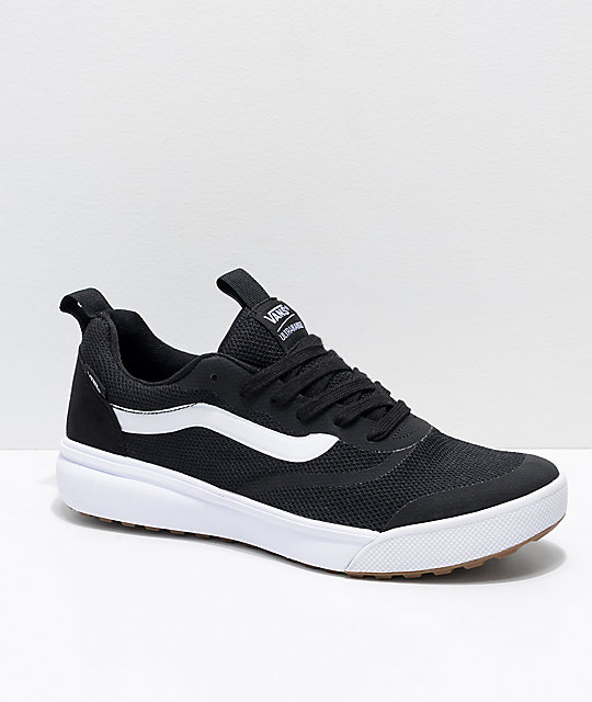 Vans UltraRange Rapidweld zapatos en negro y blanco ... 1286306fa4a