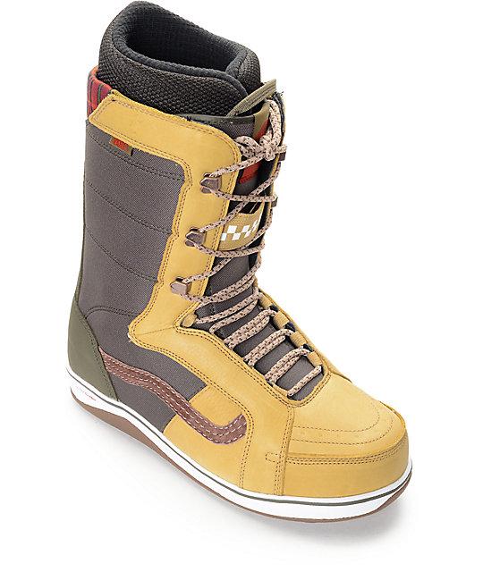 17257f9d72 Vans V-66 Tan   Forest Green Snowboard Boots
