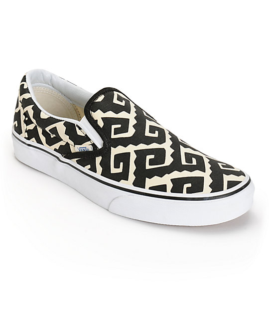 98a497ab31 Vans Van Doren Geo Tribal Slip-On Skate Shoes