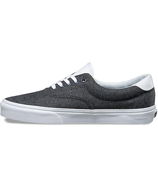 ... Vans Varsity Era 59 Charcoal   White Shoes ... ce7552628a6f