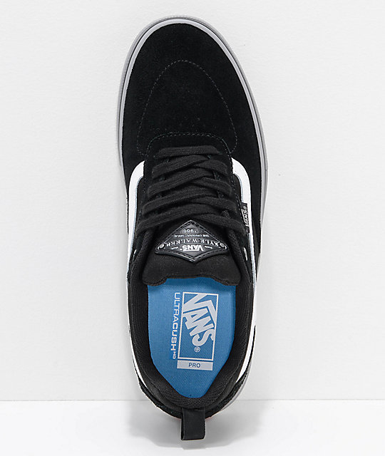 Vans Walker Pro Black & Frost Grey Skate Shoes