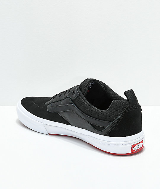 fc01f89533bb7c ... Vans Walker Pro Black   Red Skate Shoes ...