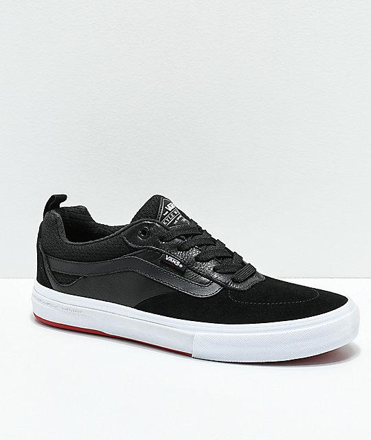 bbefe5656e8995 Vans Walker Pro Black   Red Skate Shoes