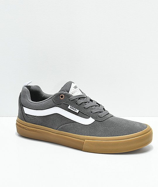 1b9f8a8edd Vans Walker Pro Pewter   Gum Skate Shoes