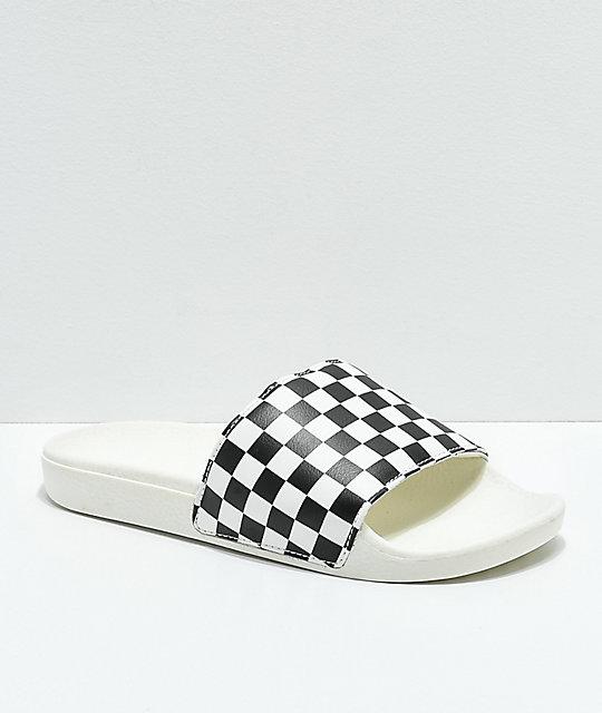 checker vans slides