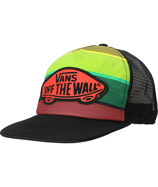 Vans Womens Beach Rasta Trucker Hat
