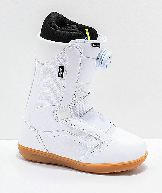 79bfe3a59f Vans Womens Encore White   Gum Snowboard Boots 2019