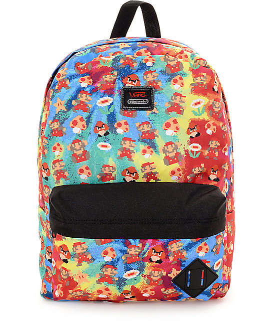 Vans X Nintendo Old Skool II Mario 22L Backpack  1a38df40077