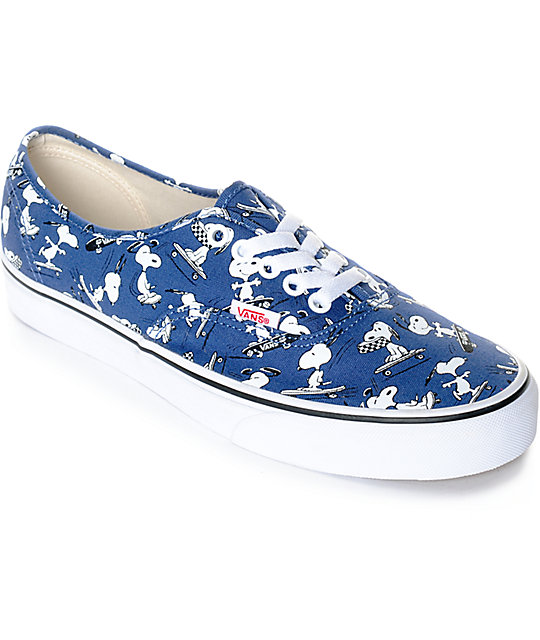 Vans X Peanuts Authentic Snoopy Skate Shoes  a49545101