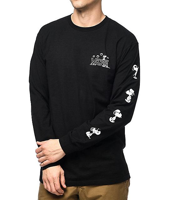 11f3af7bec Vans X Peanuts Long Sleeve Black T-Shirt