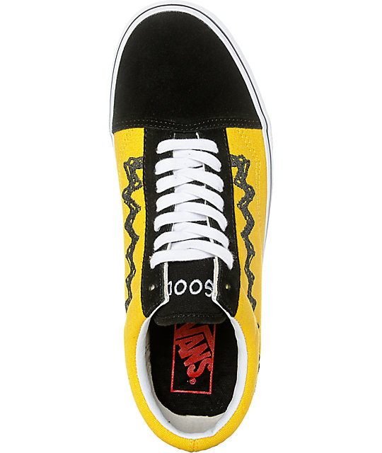 7a1435d7c61 ... Vans X Peanuts Old Skool Charlie Brown Skate Shoe ...