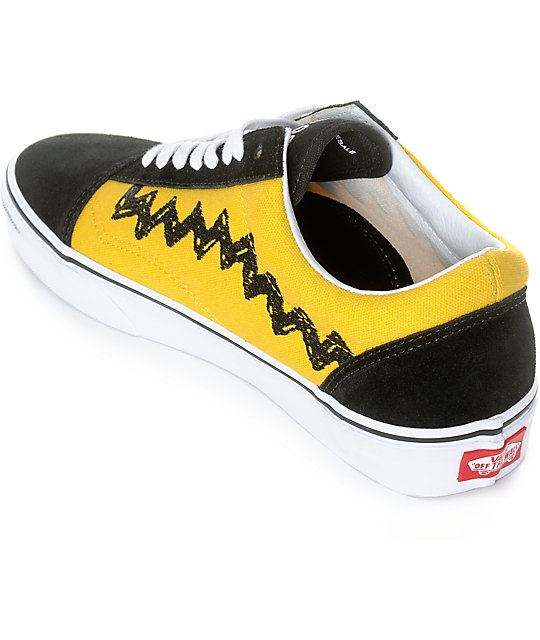 vans peanuts old skool charlie brown