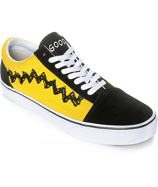 d710a236a28d Vans X Peanuts Old Skool Charlie Brown Skate Shoe