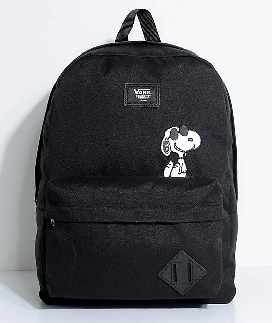 mochila negra hombre vans