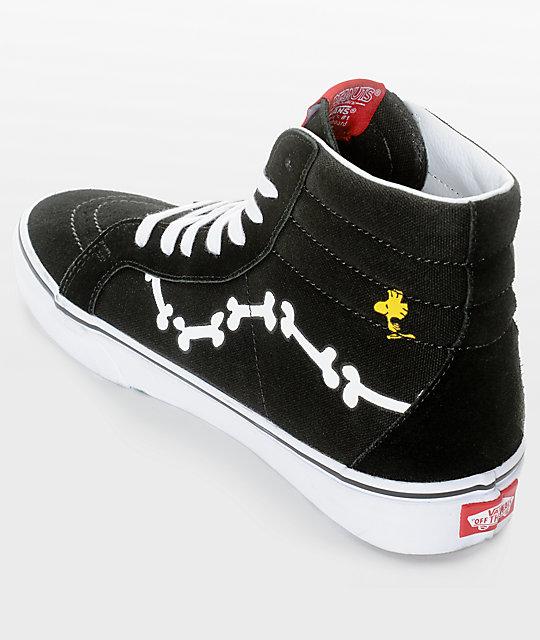 ... Vans X Peanuts SK8-Hi Snoopy Bones Skate Shoes ... 60d97247eb3