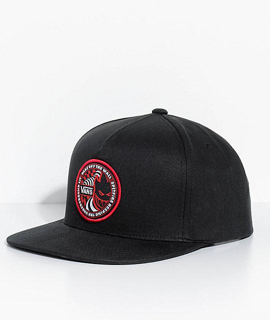 84d84cf29 Vans X Spitfire Black Snapback Hat