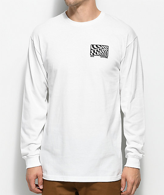 Vans X Spitfire Long Sleeve White T-Shirt