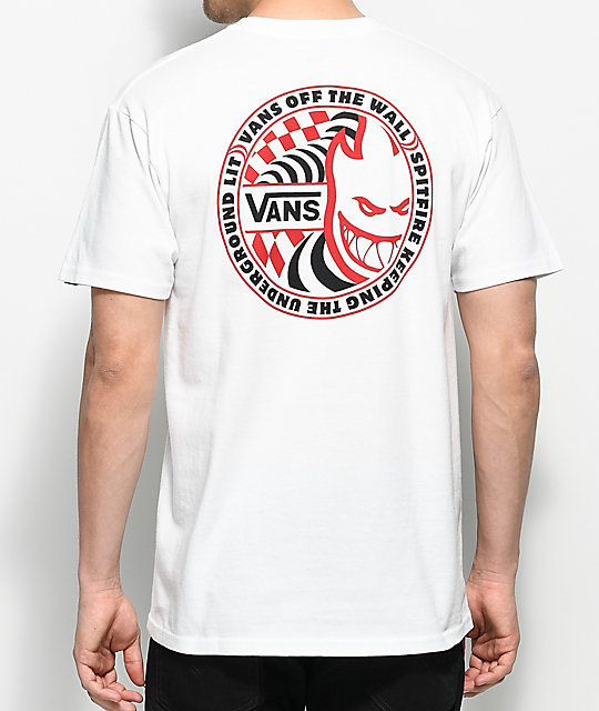 Vans X Spitfire camiseta blanca ... d3d2d6caeb555