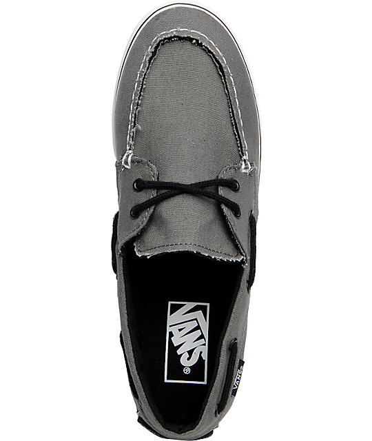 Vans Zapato Lo Pro Pewter Grey Boat Shoes