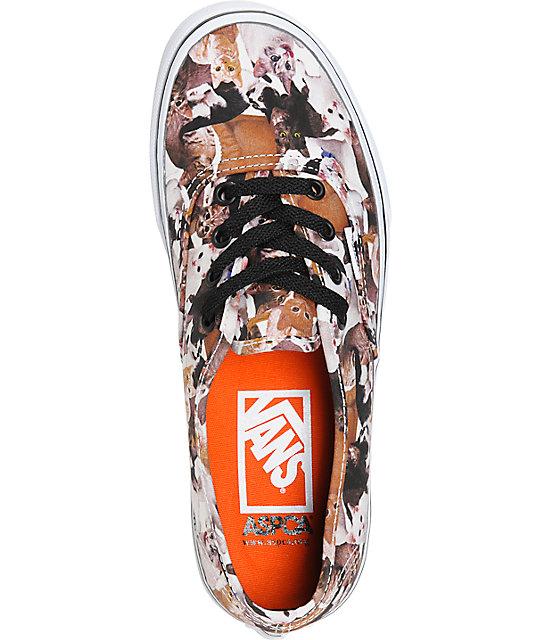 ea140fce5241bb ... Vans x ASPCA Authentic Kittens Shoes ...