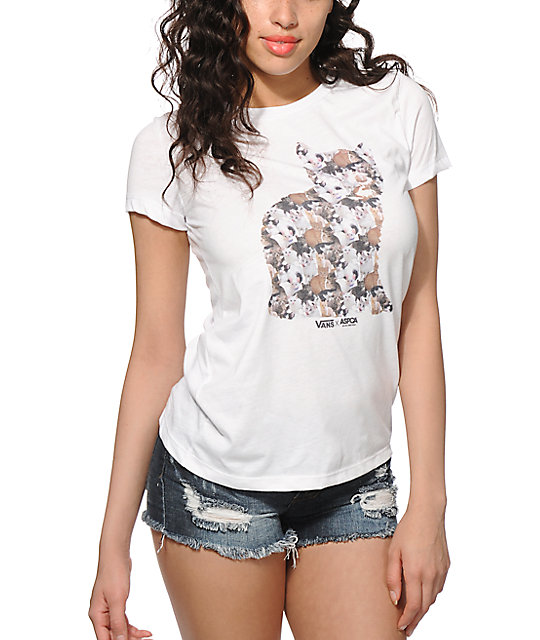 e03010dde0 Vans x ASPCA Cat Collage T-Shirt