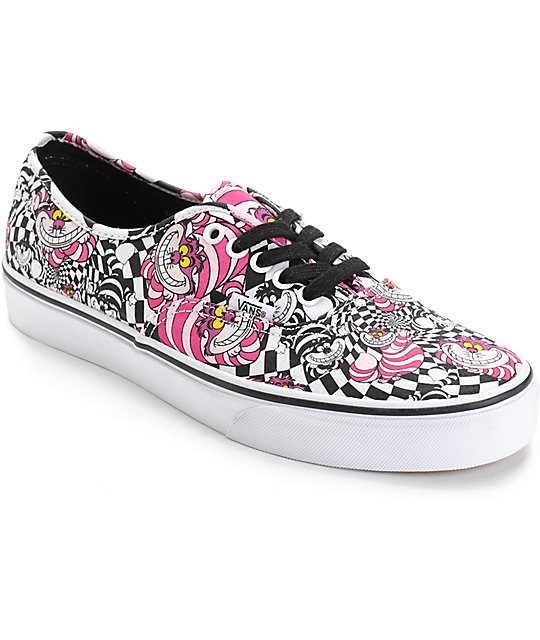 691f3d41f1f Vans x Alice In Wonderland Authentic Cheshire Cat Skate Shoes