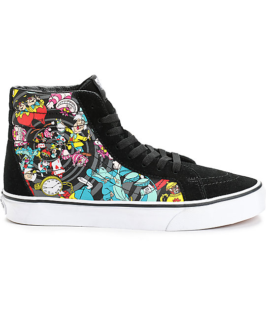 ... Vans x Alice In Wonderland Sk8-Hi Rabbit Hole Skate Shoes 19677c200b2b1