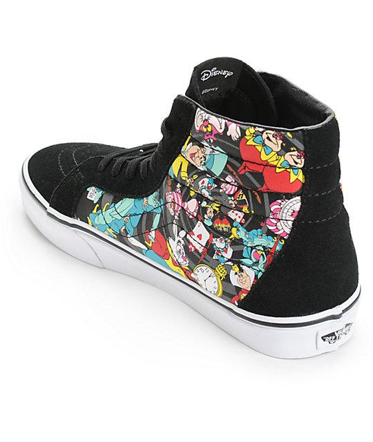 6fa8d6365a0622 ... Vans x Alice In Wonderland Sk8-Hi Rabbit Hole Skate Shoes ...