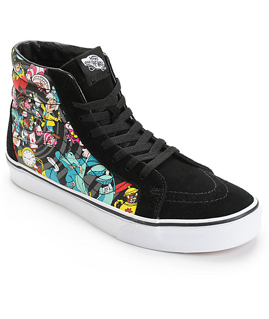 Vans x Alice In Wonderland Sk8-Hi Rabbit Hole Skate Shoes  e821b9ad3e0fa