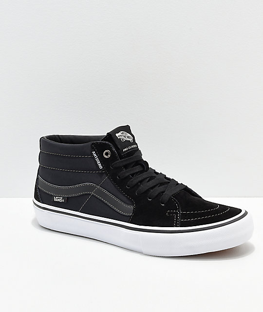 Vans x Anti-Hero Grosso Sk8-Mid Pro Black Skate Shoes