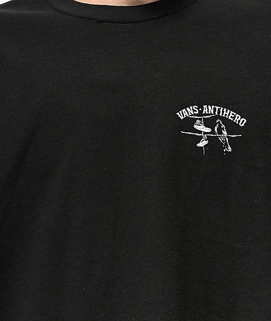 ecbd5e85 Vans x Anti-Hero On The Wire Black T-Shirt | Zumiez