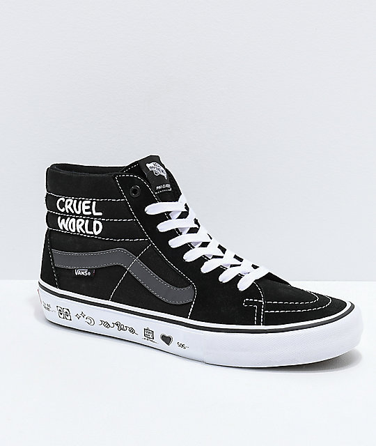 Pro amp; X Skate Hi Zumiez Grey Sk8 White Vans Black Cult Shoes 0wBUIAHqH