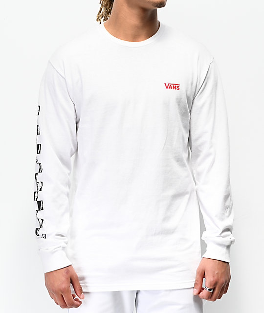 Vans x David Bowie Serious White Long Sleeve T-Shirt