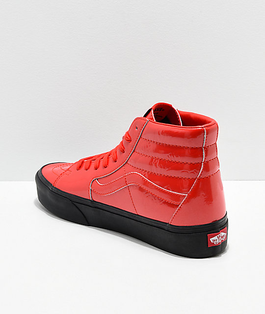 Vans x David Bowie Sk8-Hi Platform Ziggy Stardust Red Skate Shoes