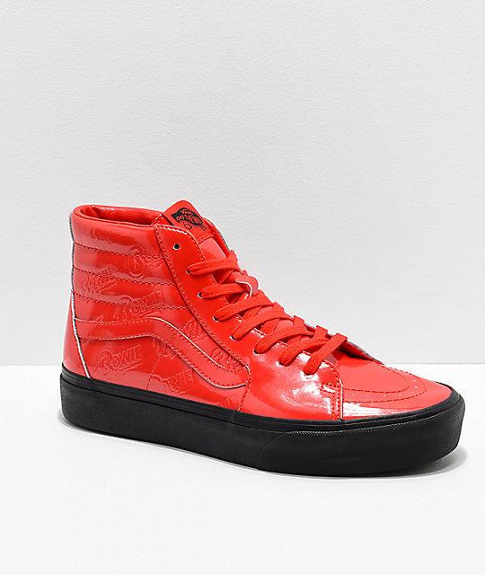 1d1d16b407347 Vans x David Bowie Sk8-Hi Platform Ziggy Stardust Red Skate Shoes | Zumiez