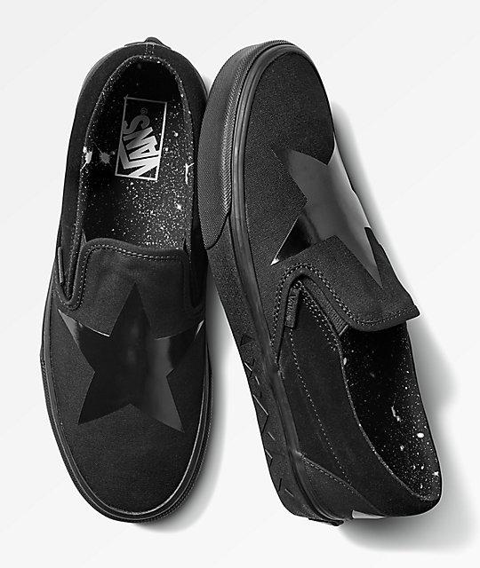 2cc5c36fdb7 Vans x David Bowie Slip-On Blackstar Skate Shoes