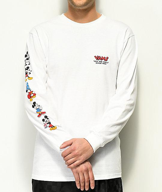 5639c0f0 Vans x Disney Mickey 90th White Long Sleeve T-Shirt | Zumiez.ca