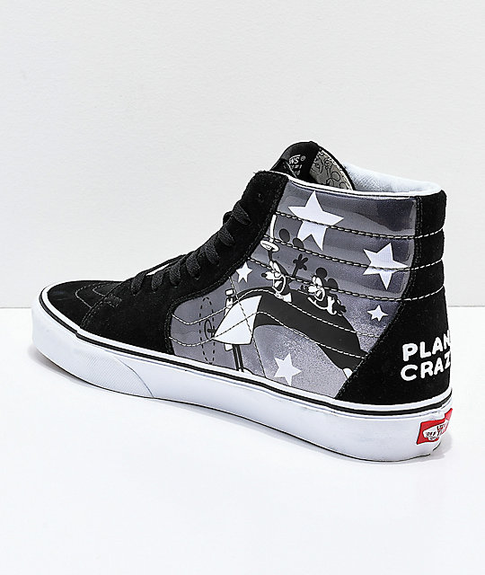 4877ec3c0 Vans x Disney Sk8-Hi Mickey Plane Crazy Black & White Shoes | Zumiez.ca