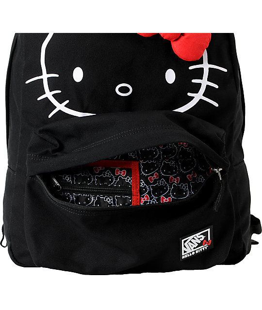 Vans x Hello Kitty Red Bow Black Backpack
