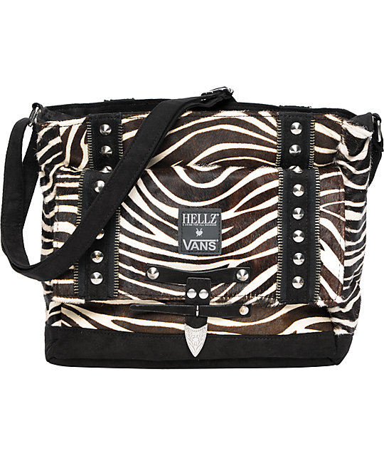 Vans x Hellz White & Black Zebra Purse